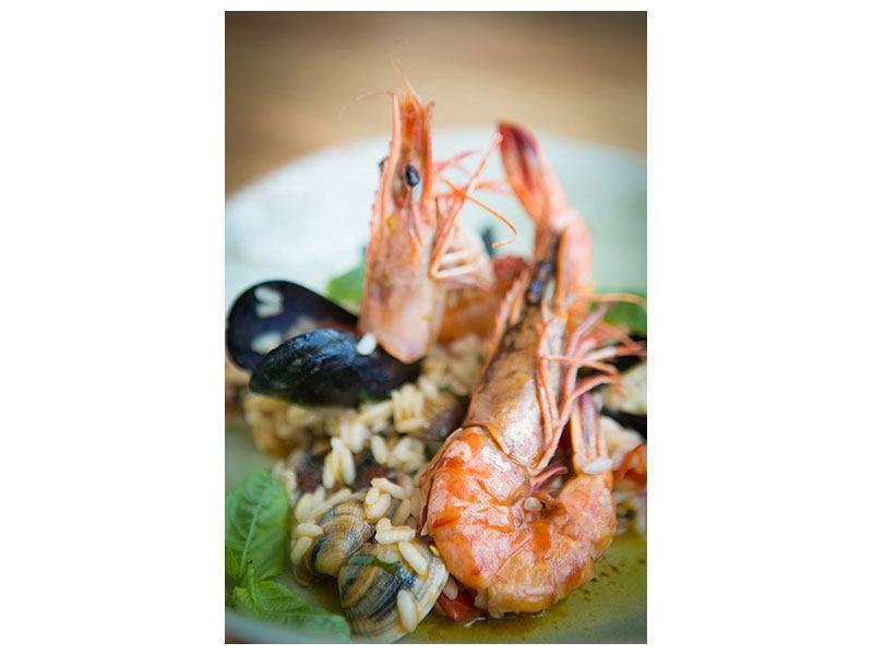 Hartschaumbild Meeresfrüchte