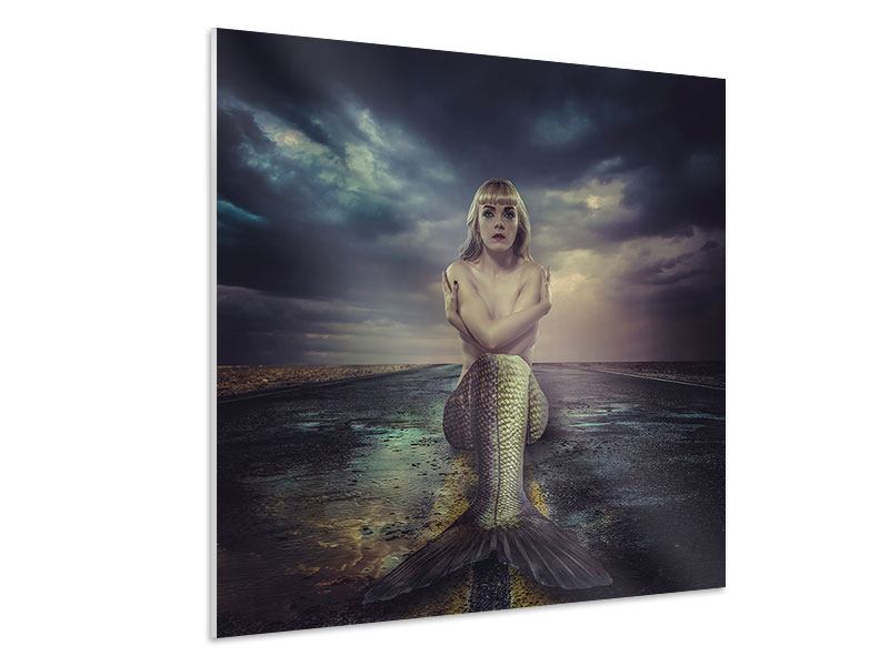 Hartschaumbild Gestrandete Meerjungfrau
