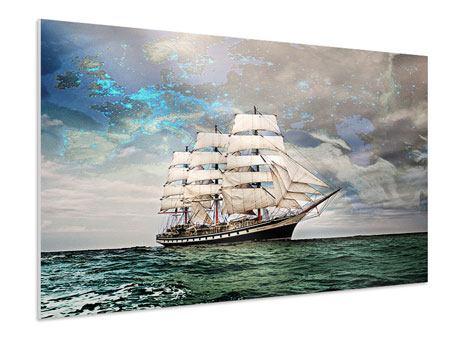 Hartschaumbild Segelschiff