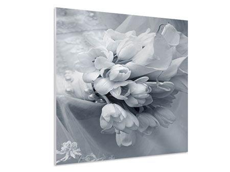 Hartschaumbild Romantisches Tulpenbukett