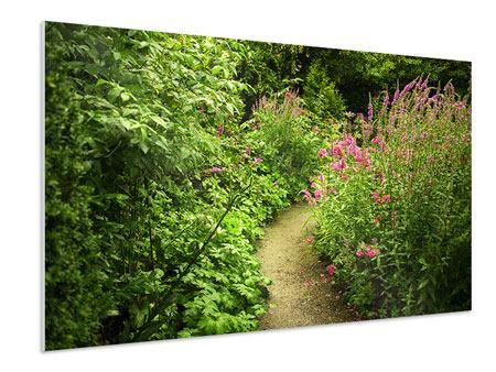 Hartschaumbild Gartenweg