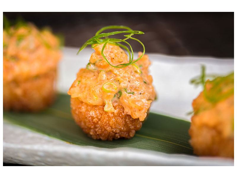 Hartschaumbild Asiatische Küche