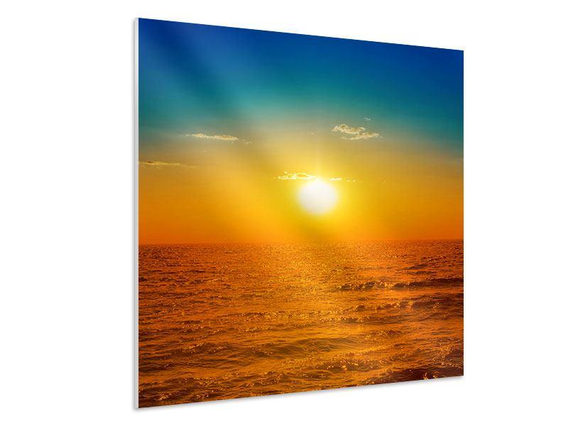 Hartschaumbild Das Meer im Sonnenuntergang