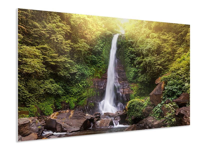 Hartschaumbild Wasserfall Bali