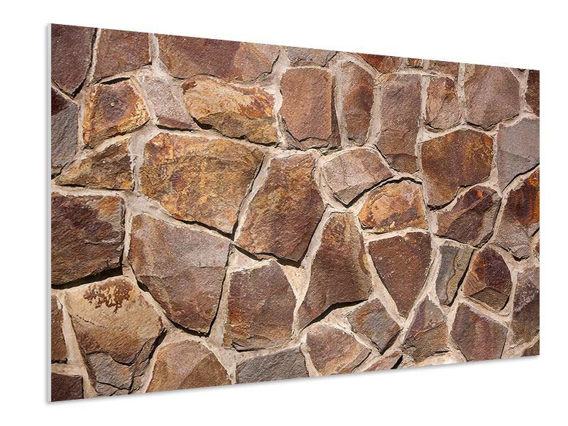 Hartschaumbild Designmauer