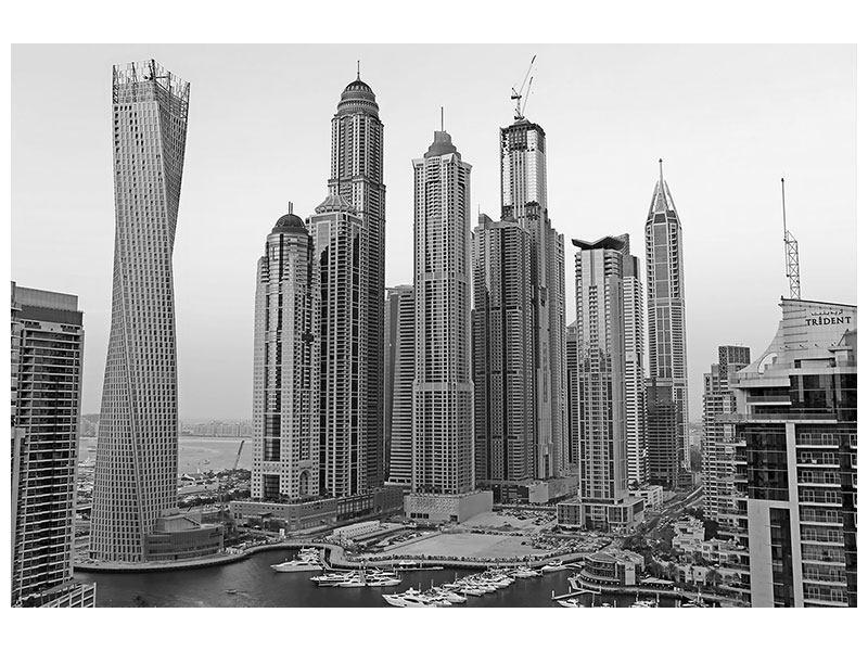 Hartschaumbild Majestätische Wolkenkratzer in Dubai