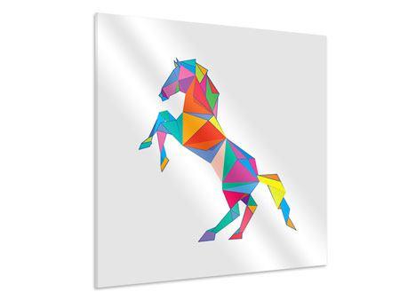 Hartschaumbild Origami Pferd