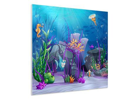 Hartschaumbild Unterwasserschatzsuche