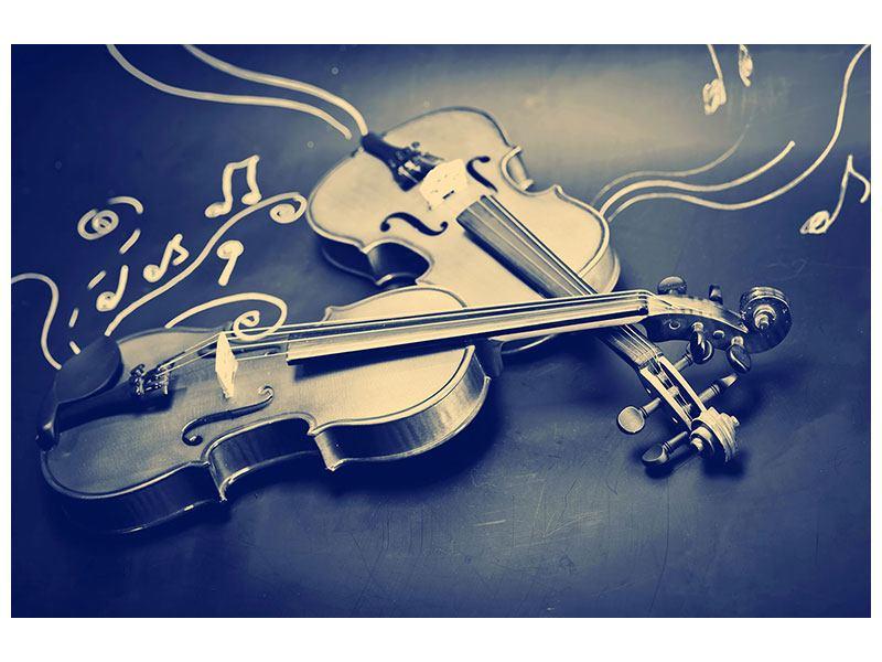 Hartschaumbild Geigen