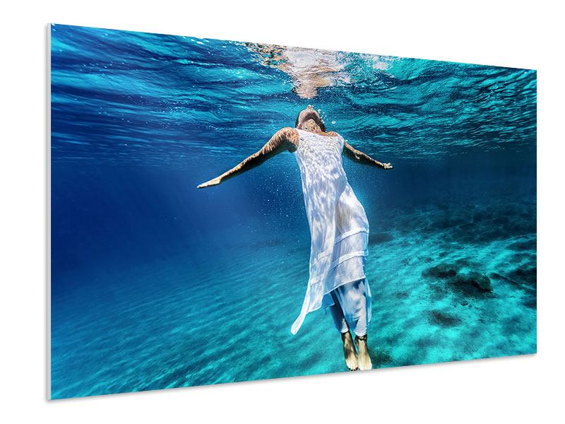Hartschaumbild Schönheit unter Wasser