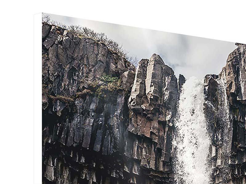 Hartschaumbild Wasserfall Island