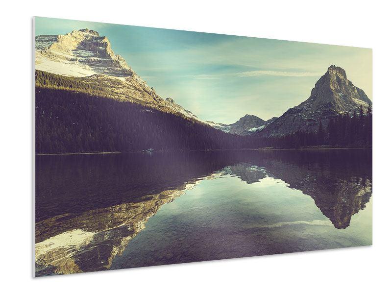 Hartschaumbild Spiegelung im Bergsee