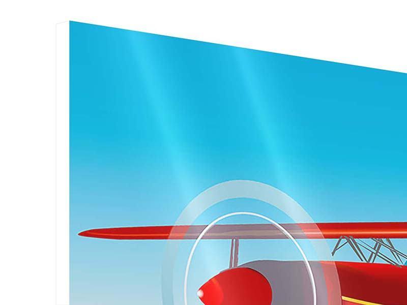 Hartschaumbild Fliegendes Flugzeug