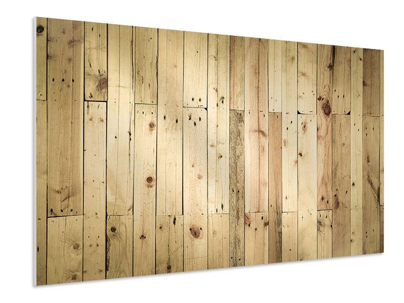 Hartschaumbild Holzpaneelen