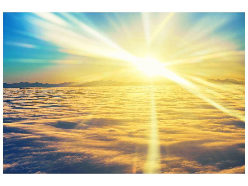 Hartschaumbild Sonnenuntergang über den Wolken