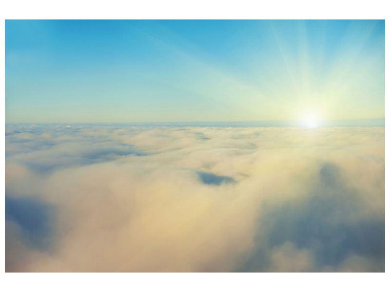 Hartschaumbild Dämmerung über den Wolken