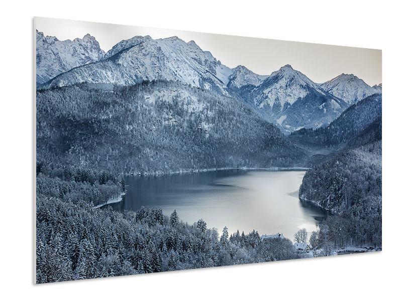 Hartschaumbild Schwarzweissfotografie Berge