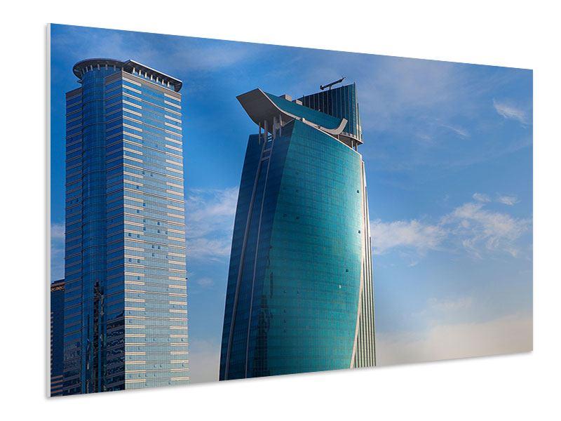 Hartschaumbild Zwei Wolkenkratzer