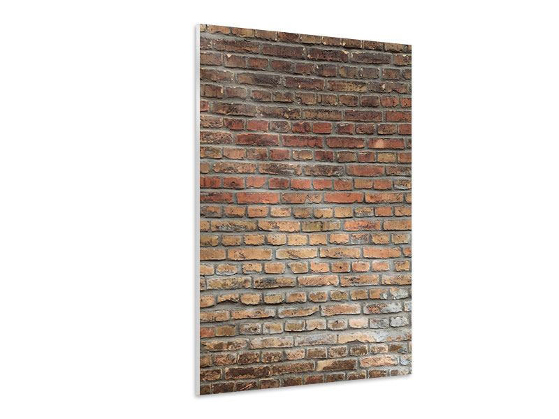 Hartschaumbild Ziegelmauer