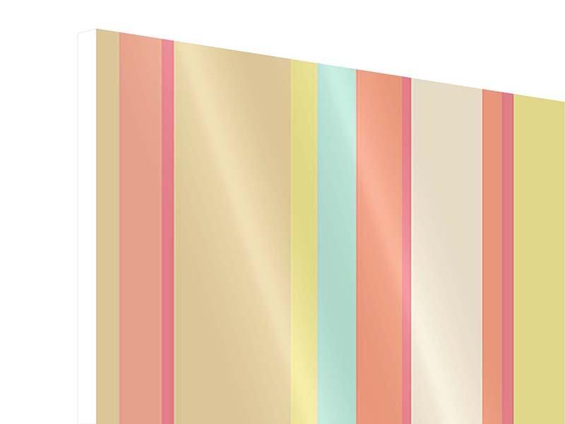 Hartschaumbild Pastell Streifen