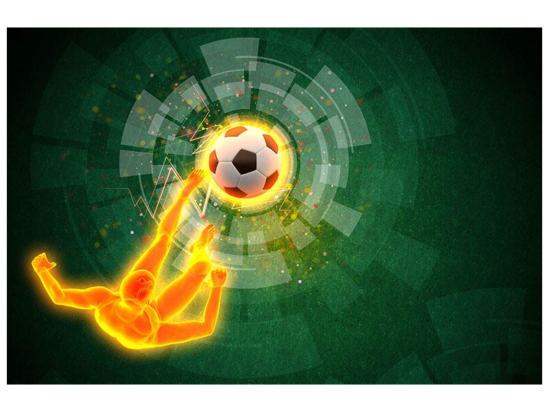 Hartschaumbild Der Kicker
