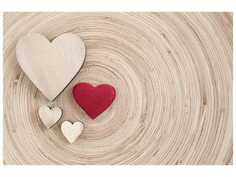 Hartschaumbild Herzen