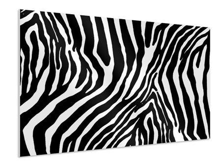 Hartschaumbild Zebramuster
