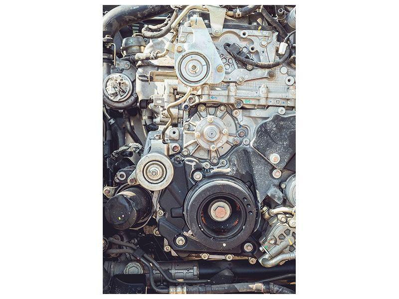 Hartschaumbild Motor