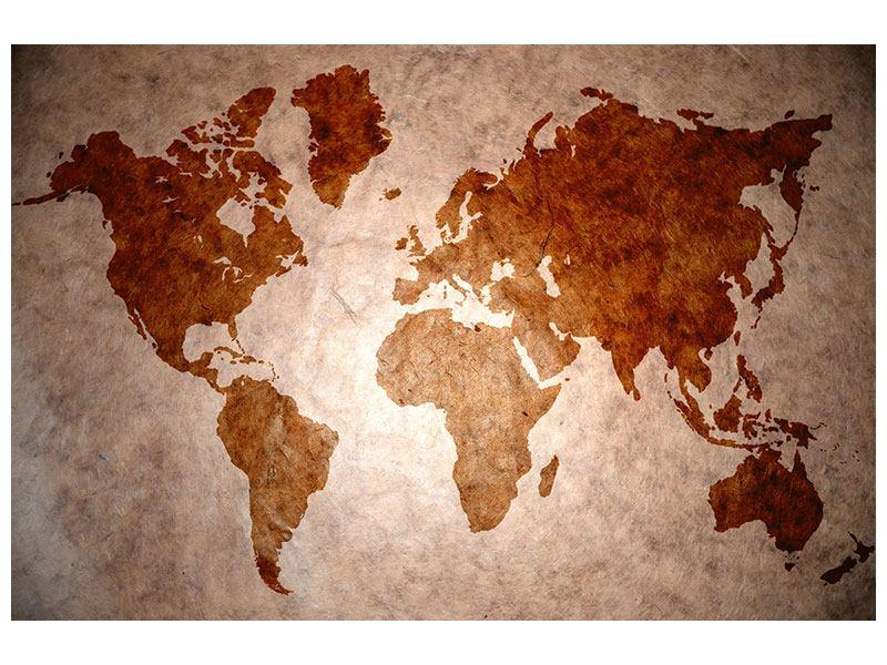 Hartschaumbild Vintage-Weltkarte