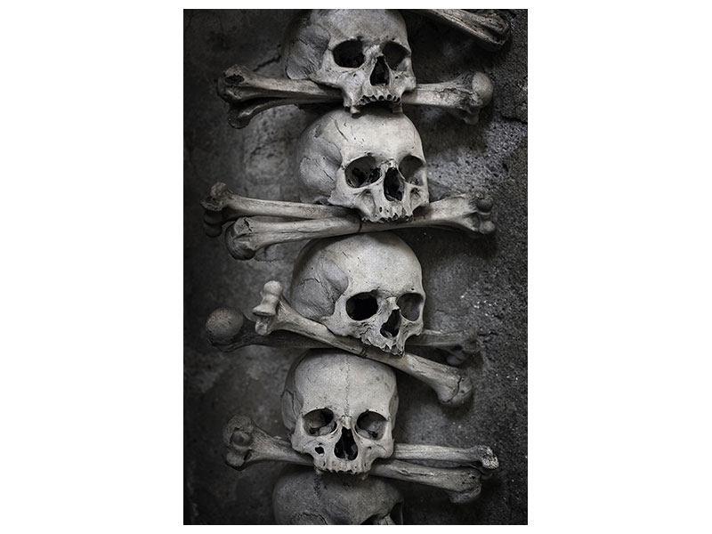 Hartschaumbild Totenköpfe