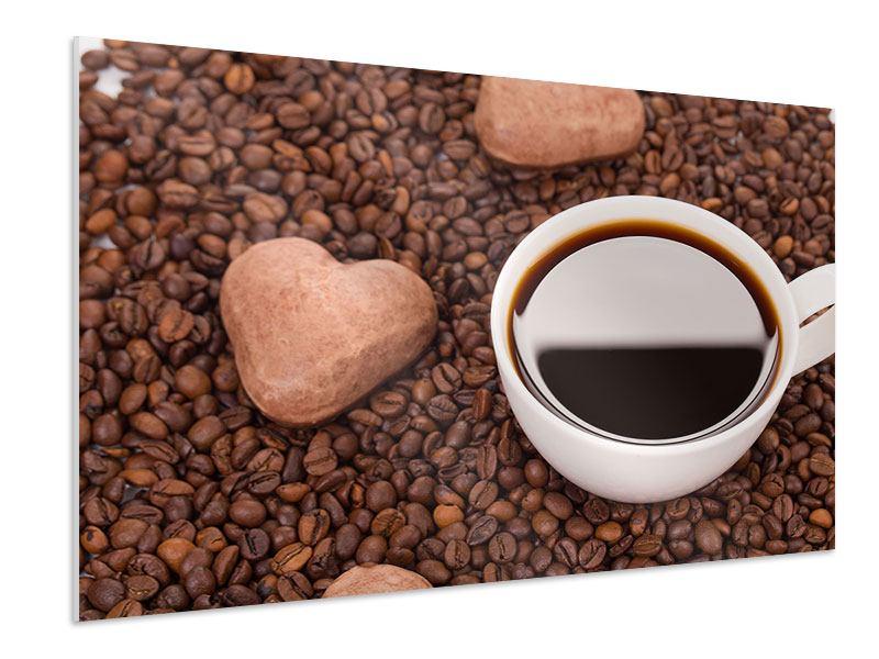 Hartschaumbild Pausenkaffee