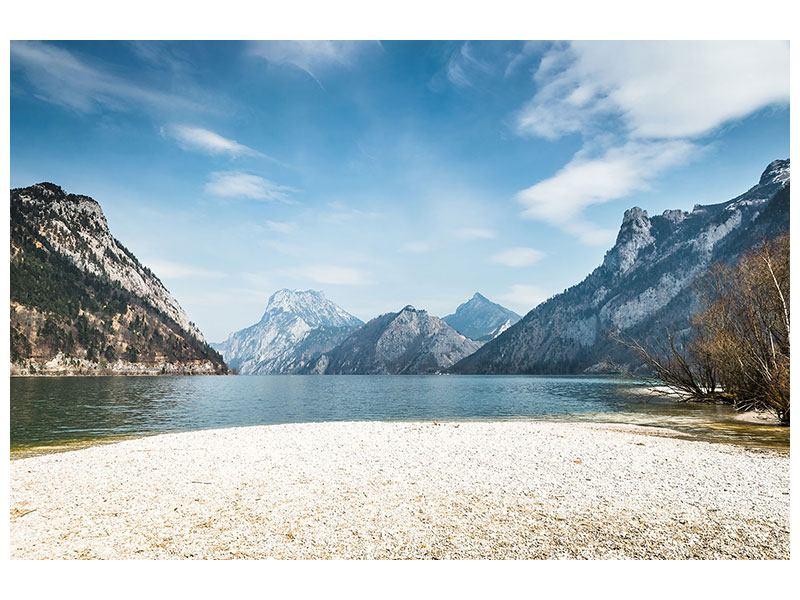 Hartschaumbild Der idyllische Bergsee