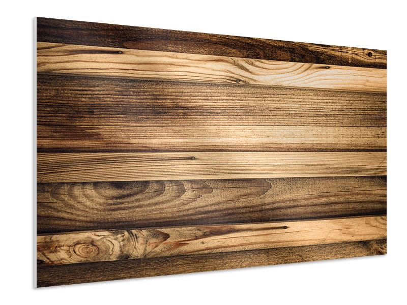 Hartschaumbild Holztrend