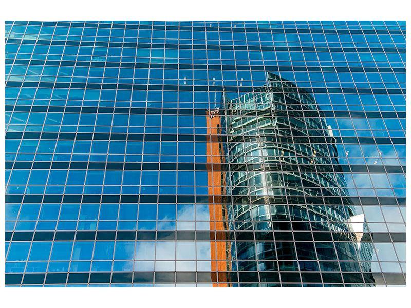 Hartschaumbild Wolkenkratzer-Spiegel