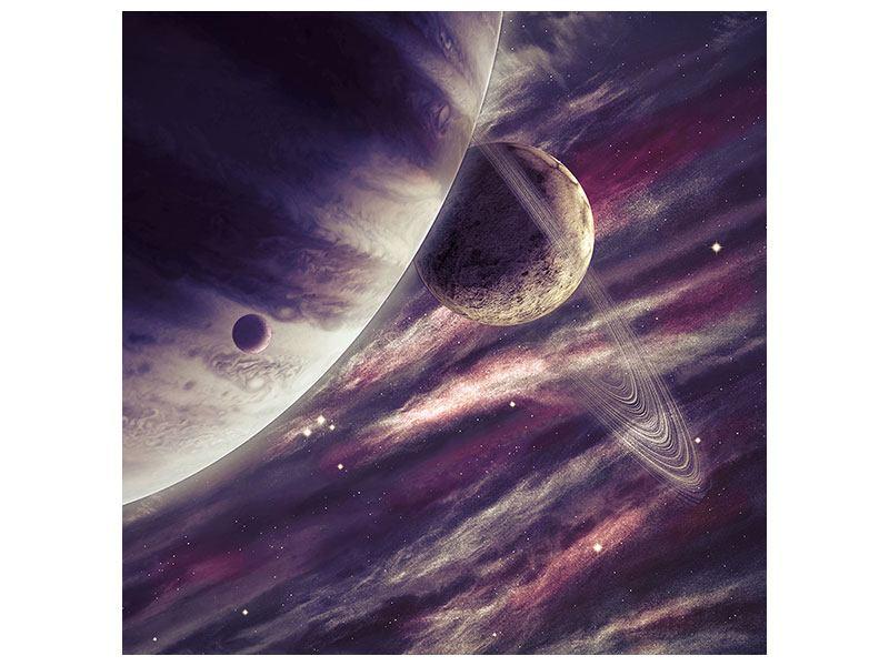 Hartschaumbild Weltraumreise