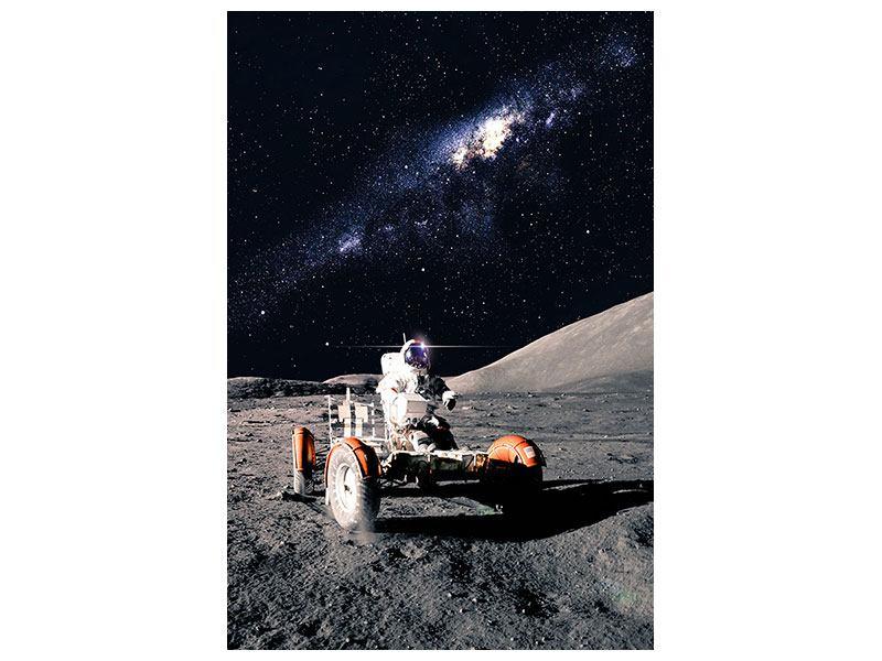 Hartschaumbild Astronauten-Arbeit