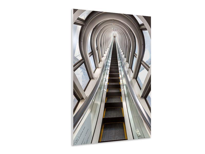 Hartschaumbild Futuristische Rolltreppe