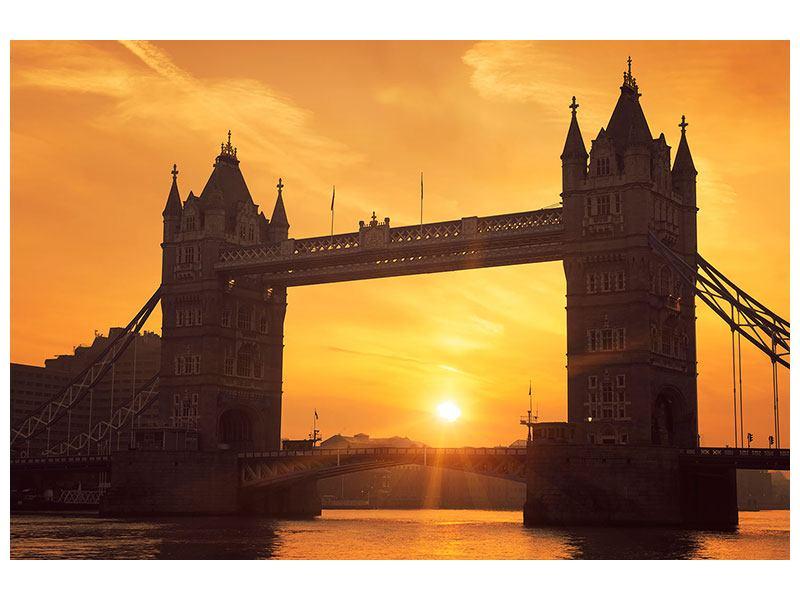 Hartschaumbild Sonnenuntergang bei der Tower-Bridge