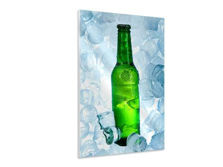 Hartschaumbild Eisgekühltes Bier