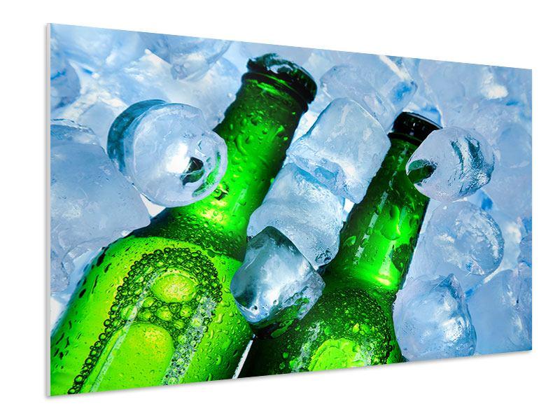 Hartschaumbild Eisflaschen