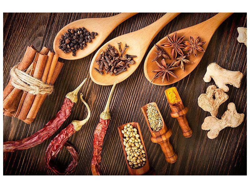 Hartschaumbild Orientalische Gewürze
