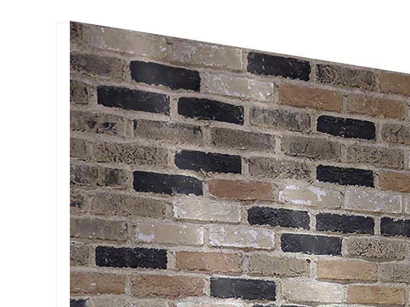 Hartschaumbild Backsteinmauer