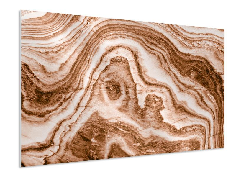 Hartschaumbild Marmor in Sepia