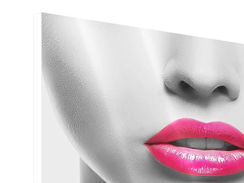 Hartschaumbild Rote Lippen