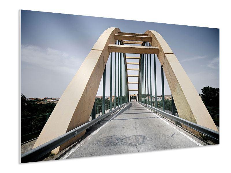Hartschaumbild Imposante Hängebrücke