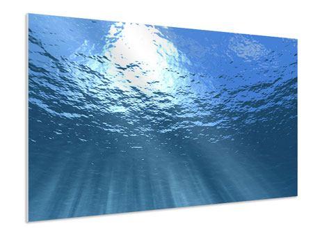 Hartschaumbild Sonnenstrahlen unter Wasser