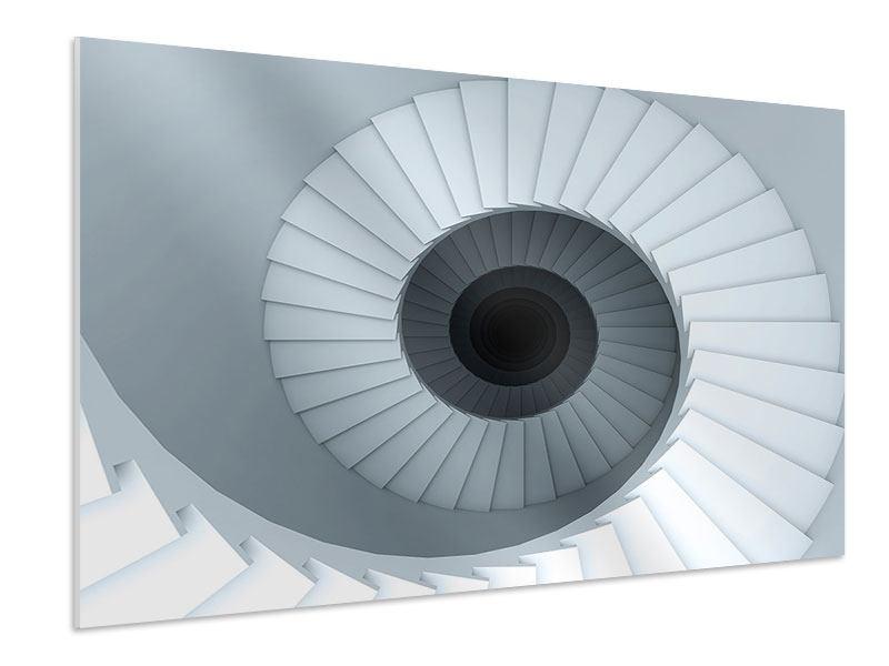 Hartschaumbild 3D Wendeltreppe