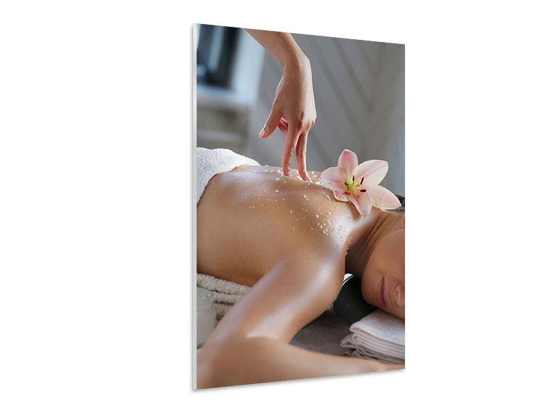 Hartschaumbild Spa Massage