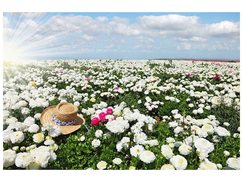 Hartschaumbild Die Frühlingsblumenwiese