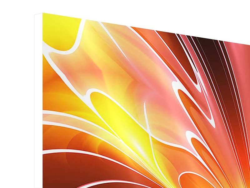 Hartschaumbild Abstraktes Farbenspektakel